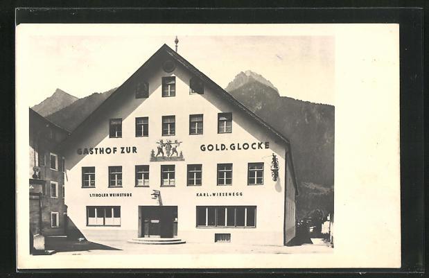 AK Reutte, Gasthof Goldene Glocke