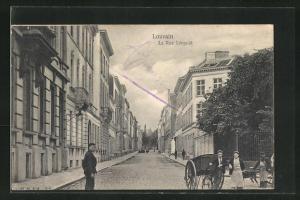 AK Louvain, La Rue Léopold