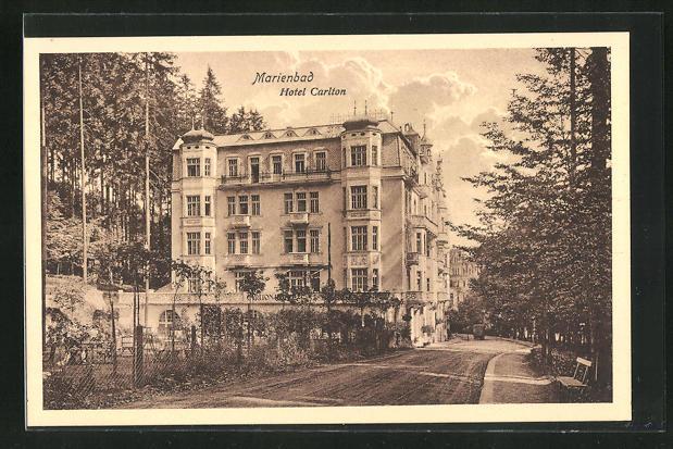 AK Marienbad, Ansicht vom Hotel Carlton