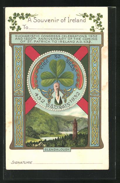 Präge-AK Glendalough, Eucharistic Congress Celebrations 1932
