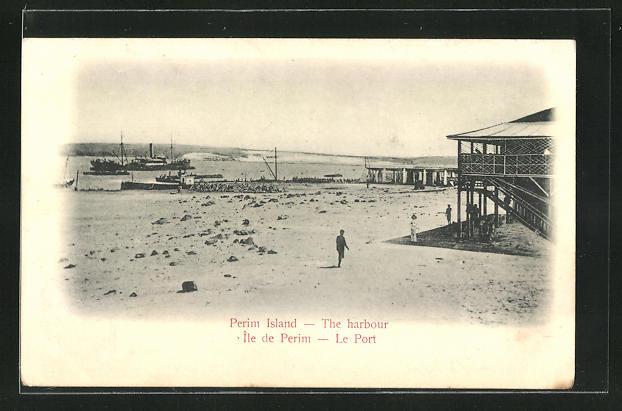 AK Perim Island, the harbour