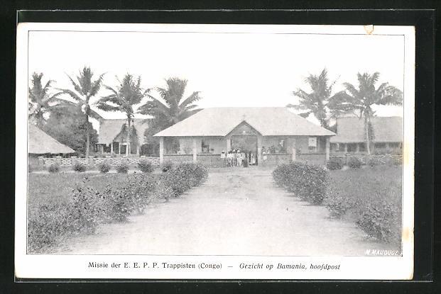 AK Bamania, Missie der E. E. P. P. Trappisten (Congo), Hoofdpost