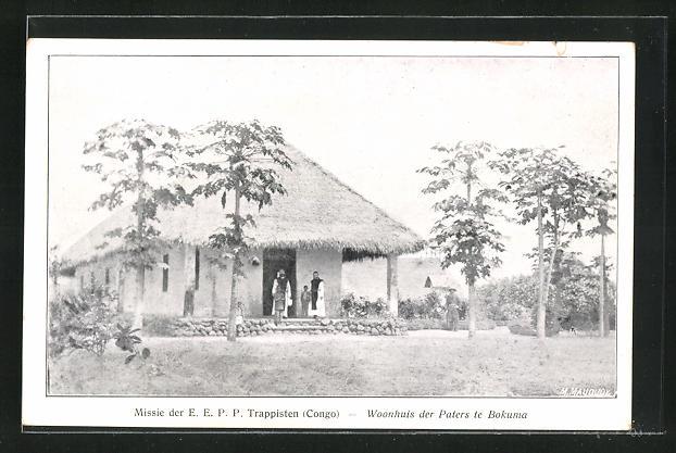 AK Bokuma, Missie der E. E. P. P. Trappisten (Congo), Woonhuis der Paters