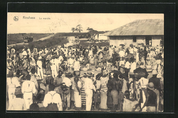 AK Kinshasa, Le Marché, auf dem Markt