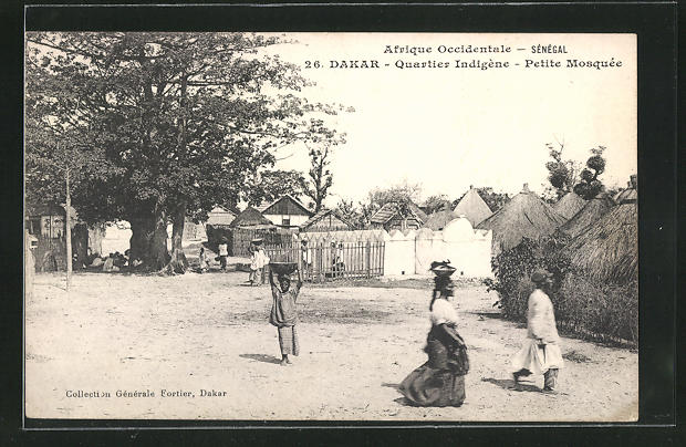 AK Dakar, Quartier Indigène - Petite Mosquée