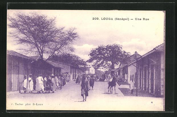 AK Louga, Une Rue, Strassenpartie