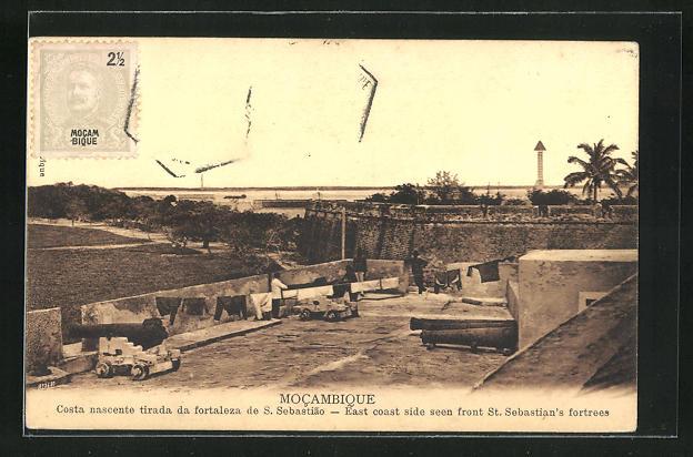 AK Mocambique, Costa nascente tirada da fortaleza de S. Sebastia