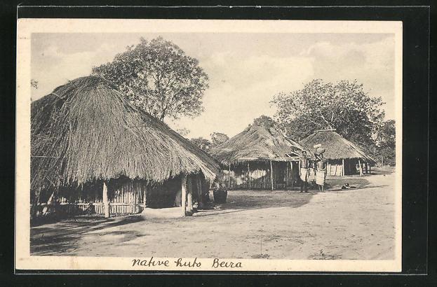 AK Beira, Native Huts, Hütten der Eingeborenen