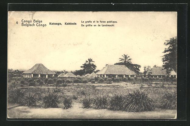 AK Katanga / Kabinda, le greffe et la force publique, Ganzsache Belgisch Congo