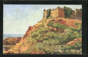 Künstler-AK Gold Coast, Fort Nassau Mori