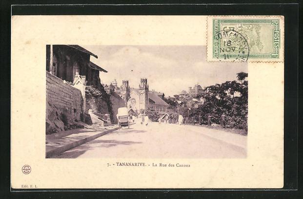 AK Tananarive, La Rue des Canons