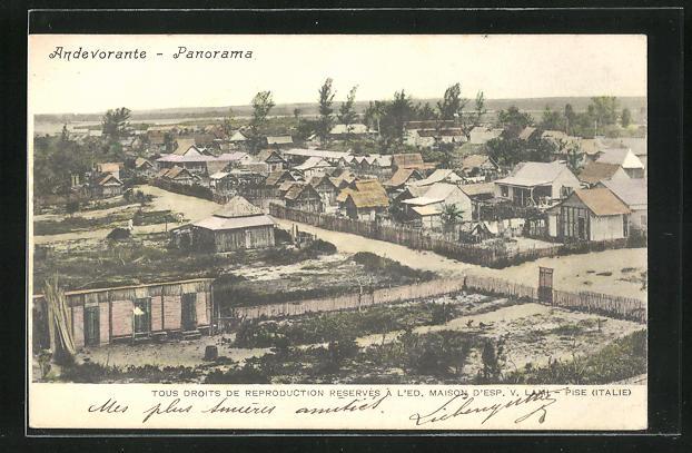 AK Andevorante, Teilansicht der Ortschaft