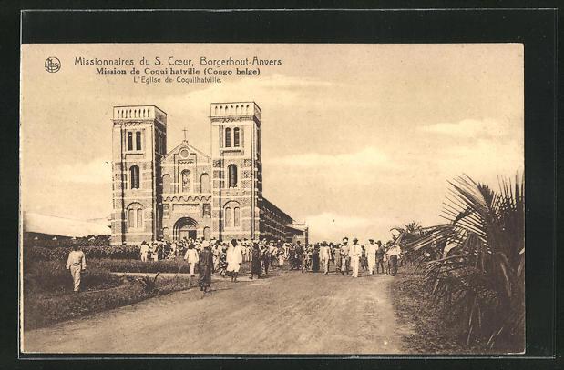 AK Coquilhatville, L`Eglise, Missionnaires du S. Coeur / Borgerhout-Anvers