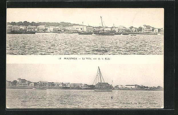 AK Majunga, La Ville, vue de la Rade