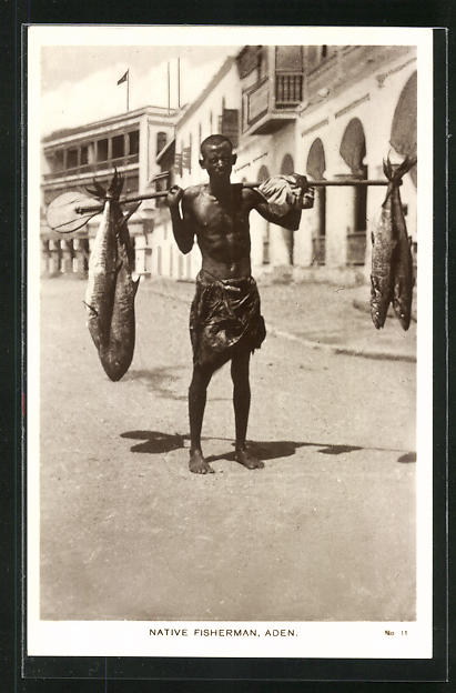 AK Aden, Native Fisherman, Einheimischer Fischer