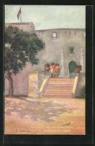 Künstler-AK Accra, Entrance to Christiansborg Castle
