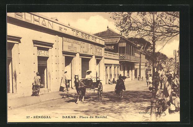 AK Dakar, Place du Marché, am Marktplatz