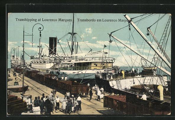 AK Lourenco Marques, Dampfer am Hafen