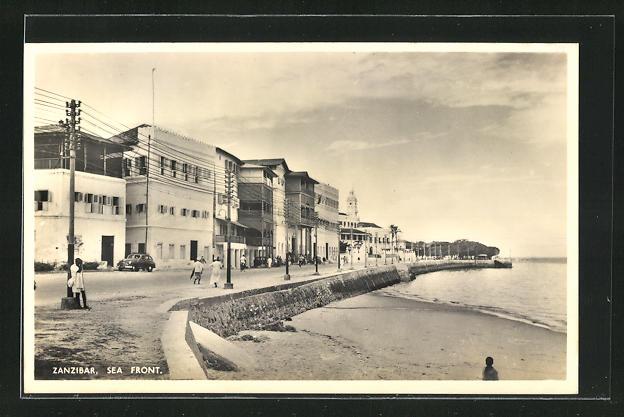AK Zanzibar, Sea Front, Uferstrasse