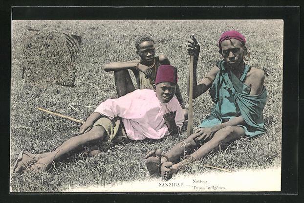 AK Zanzibar, Natives / Types indigènes