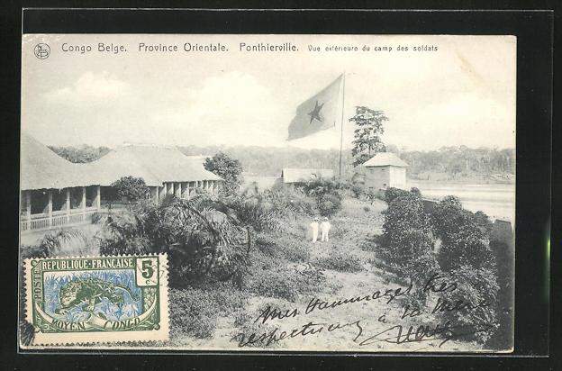 AK Ponthierville, Vue extérieure du camp des soldats