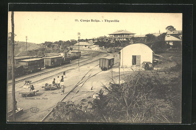 AK Thysville, Gleisanlagen am Bahnhof