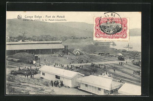 AK Port de Matadi, Station du chemin de fer Matadi-Léopoldville