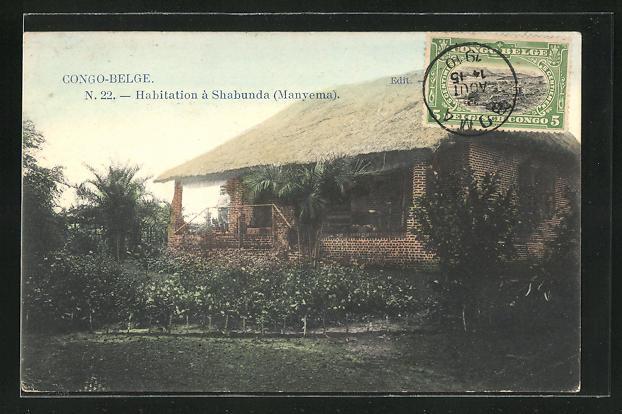 AK Shabunda / Manyema, Habitation, Wohnhaus mit Garten