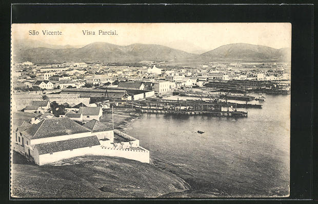 AK St. Vincent / S. Vicente, Vista Parcial, Panoramablick auf die Stadt