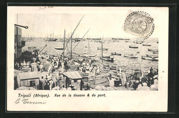 AK Tripoli, Vue de la Douane & du Port