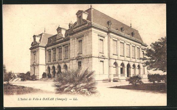 AK Dakar, L`Hotel de Ville, Ansicht vom Rathaus