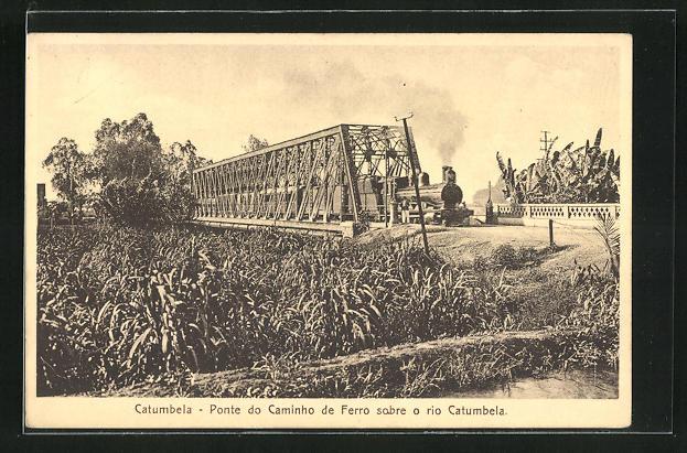 AK Catumbela, Ponte do Caminho de Ferro sobre o rio