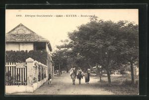 AK Kayes, Boulevard, Reiter auf Strasse