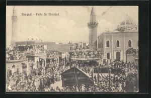 AK Bengasi, Festa dei Marabuti, Blick auf Moscheen