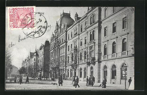 AK Graz, Häuseransichten an Strasse