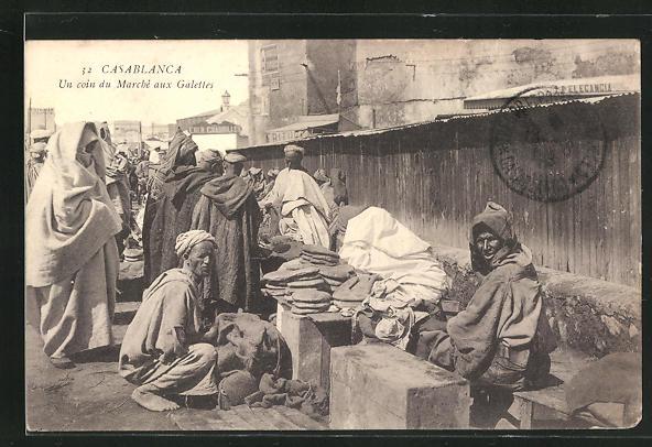 AK Casablanca, Un coin du Marché aux Galettes