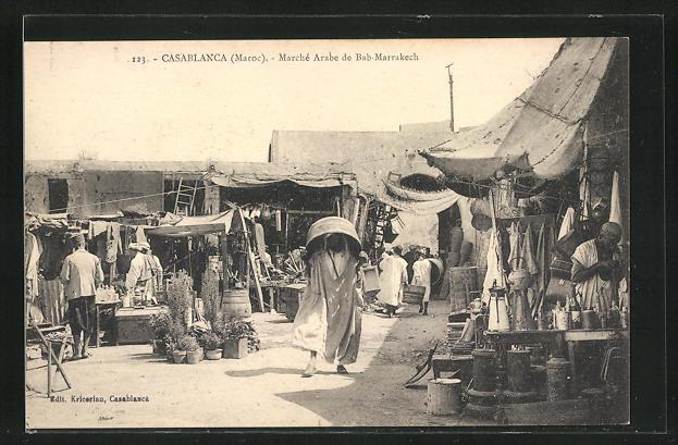 AK Casablanca, Marché Arabe de Bab-Marrakech