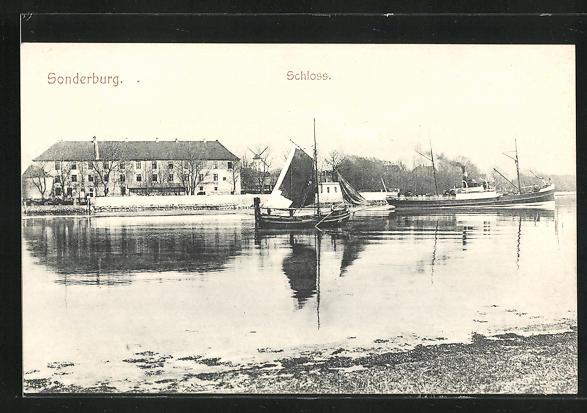 AK Sonderburg, Blick zum Schloss