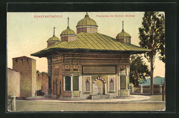 AK Constantinople, Fontaine du Sultan Ahmed