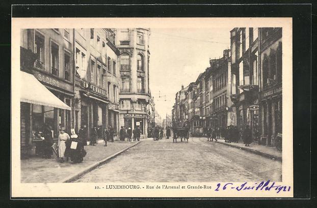 AK Luxembourg, Rue de l'Arsenal et Grande-Rue