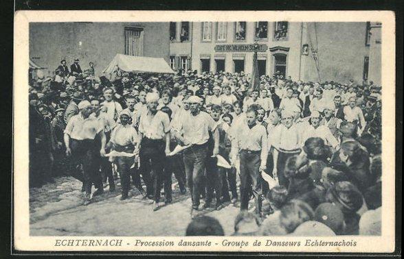 AK Echternach, Procession dansante, Groupe de Danseurs