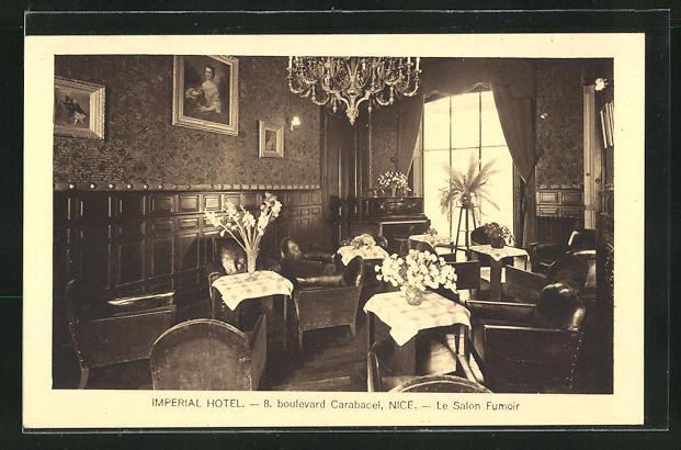 AK Nice, Imperial Hotel, Le Salon Fumoir