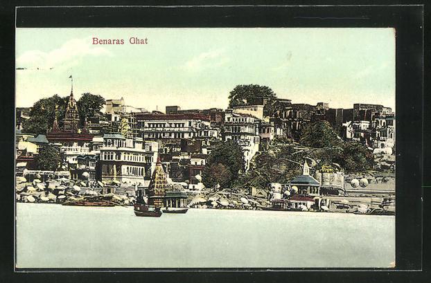 AK Benaras Ghat, Ortsansicht
