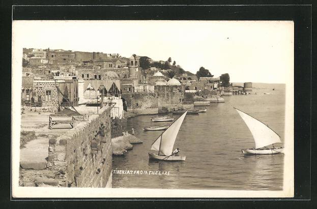 AK Tiberias, View from Thelake, Segelboote