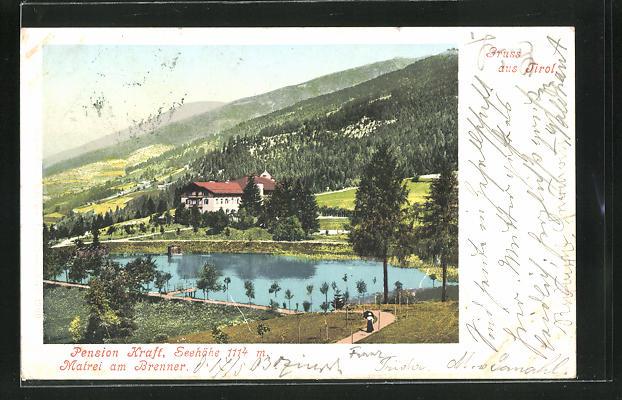 AK Matrei am Brenner, Pension Kraft am Wasser mit Landschaft