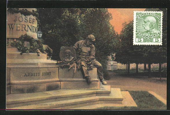 AK Steyr, Promenade beim Werndl, Monument