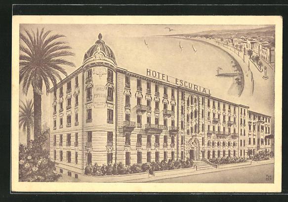 AK Nice, Hotel Escurial, 15 Av. G.-Clemenceau