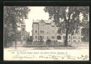 AK Columbus, OH, St. Vincents Orphan Asylum and Catholic Church