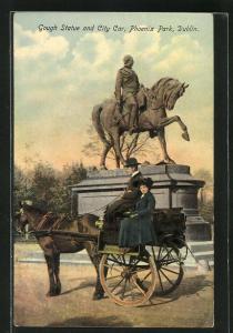 AK Dublin, Gough Statue and City Car, Phoenix Park