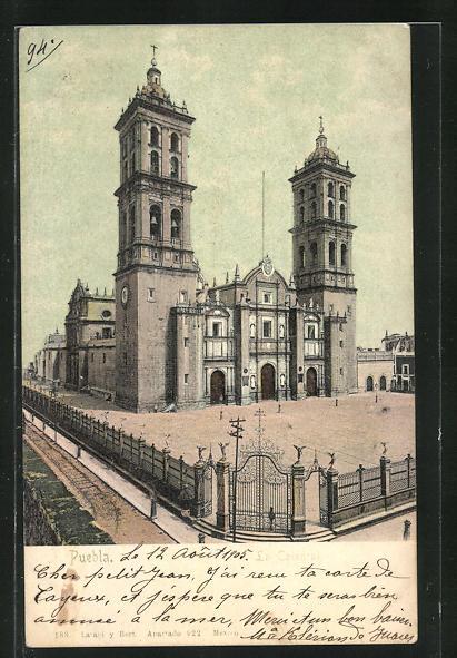 AK Puebla, La Catedral, Kirche in Mexiko